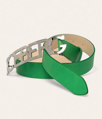 Кожаный ремень ICEBERG 66016911 зеленый