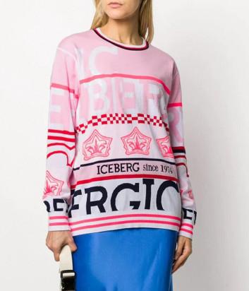 Свитер ICEBERG A0067604 розовая с лого принтом