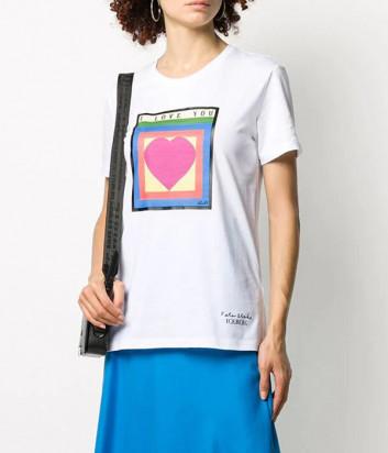 Белая футболка ICEBERG F0956301 с рисунком
