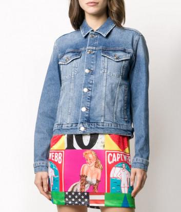 Джинсовая куртка ICEBERG O0126005 с ярким рисунком на спине