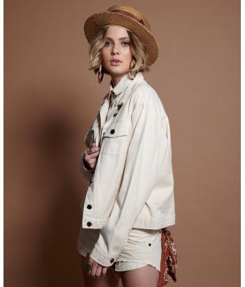 Джинсовая куртка ONE TEASPOON 22702 кремовая
