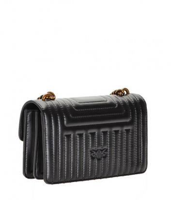 Сумочка на цепочке PINKO Mini Love Bag 1P21GTY в стеганной коже черная