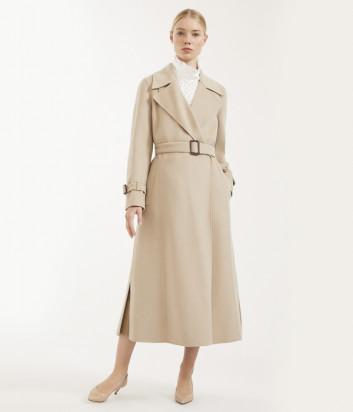 Длинное пальто WEEKEND Max Mara Aris WE50110507 бежевое