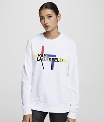 Толстовка KARL LAGERFELD 201W1811 с логотипом белая