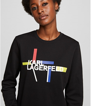 Толстовка KARL LAGERFELD 201W1811 с логотипом черная