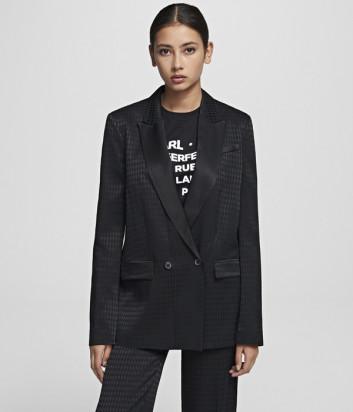 Черный пиджак-смокинг KARL LAGERFELD 201W1411 со съемным ремнем