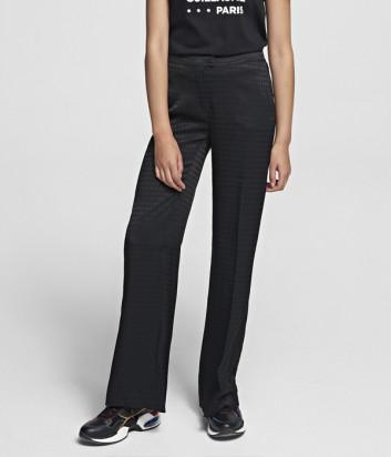 Широкие брюки KARL LAGERFELD 201W1009 черные