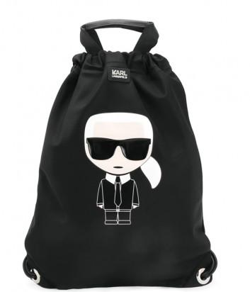 Рюкзак-сумка KARL LAGERFELD Ikonik 201W3090 черный с принтом