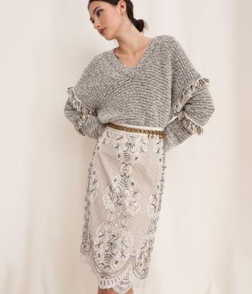 Кружевная юбка TWIN-SET 201TP2464 с вышивкой