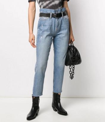 Завышенные джинсы Liu Jo UA0077D4441 с поясом голубые