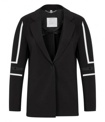 Черный пиджак Sportalm 938008064 с контрастными полосками