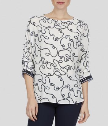 Белая блуза Sportalm 938113032 с принтом