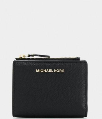 Компактный кошелек Michael Kors Jet Set в зернистой коже черный