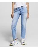 Прямые джинсы KARL LAGERFELD 201W1101 голубые