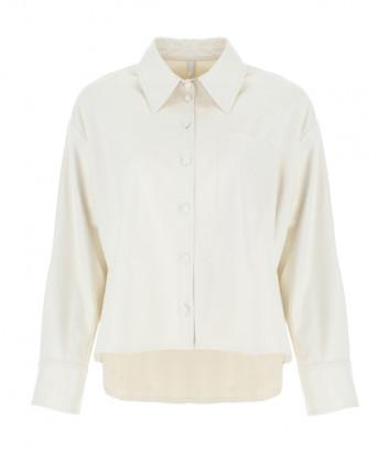 Рубашка IMPERIAL CIQ6ZHT из экокожи кремовая