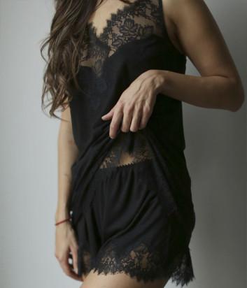 Комплект Suavite Габриэла майка и шорты черный