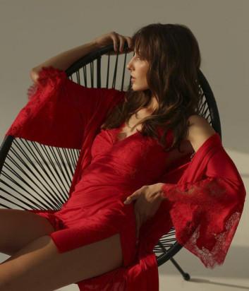 Короткий халат Suavite Аврора красный