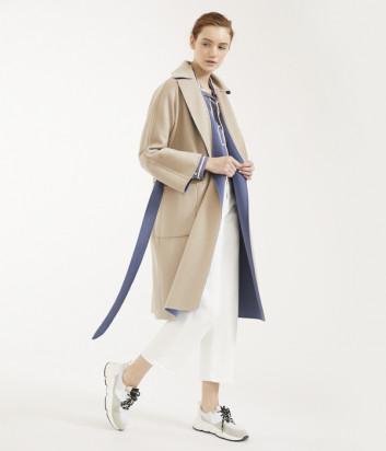 Двухстороннее пальто WEEKEND Max Mara BALTA WE501101070 сине-бежевое