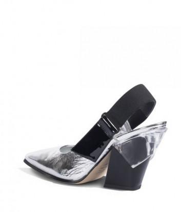 Лаковые туфли LORIBLU 8659 комбинированные серебристо-черные