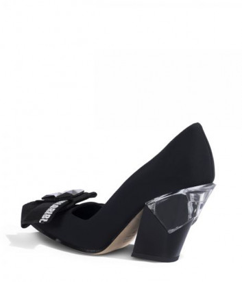 Туфли LORIBLU 8666 на фигурном каблуке черные