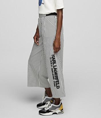 Укороченные брюки KARL LAGERFELD 201W1003 в полоску