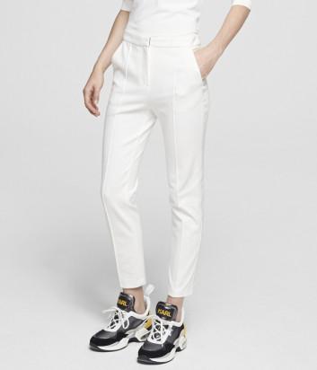 Элегантные брюки KARL LAGERFELD 201W1015 белые
