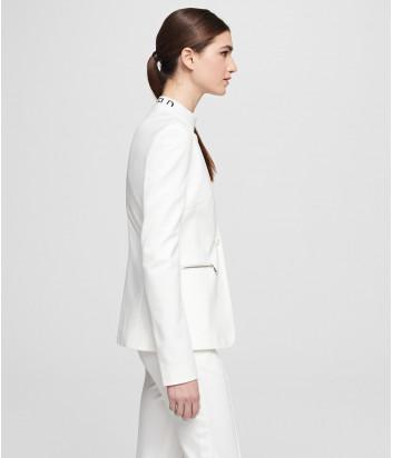 Приталенный пиджак KARL LAGERFELD 201W1416 белый