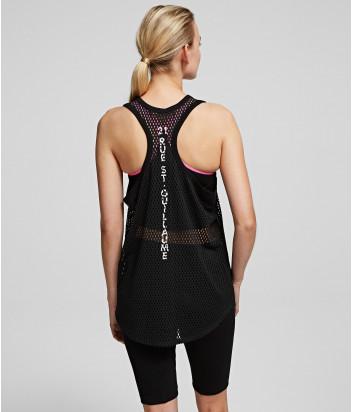 Сетчатый топ Karl Lagerfeld 201W1753 черный