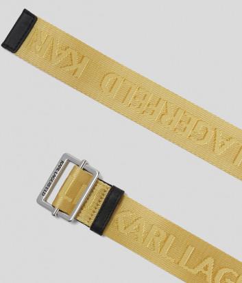 Текстильный ремень KARL LAGERFELD 201W3196 с логотипом желтый
