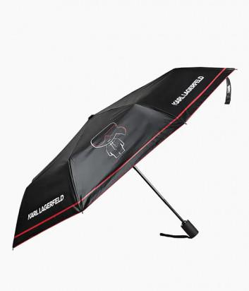 Зонт KARL LAGERFELD 201W3908 черный с красным принтом