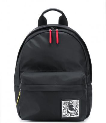 Нейлоновый рюкзак Karl Lagerfeld 201W3127 с внешним карманом черный
