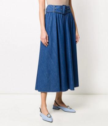 Джинсовая юбка MSGM 2841MDD54L синяя
