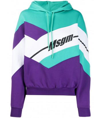 Толстовка MSGM 2841MDM66 бирюзово-фиолетовая