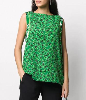 Топ ICEBERG T0515272 зеленый с цветочным принтом