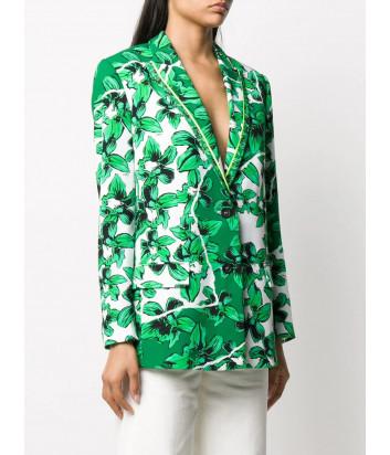 Пиджак ICEBERG L0415277 с зеленым цветочным принтом