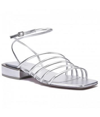 Кожаные сандалии VIC MATIE 109-109 серебристые