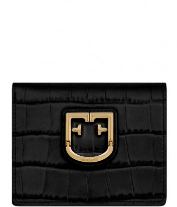 Черный кошелек Furla Belvedere 1008449 в коже с тиснением под крокодила