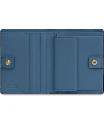 Синий кошелек Furla Belvedere 1008450 в коже с тиснением под крокодила