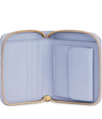 Кожаный кошелек Furla Babylon 1006819 на молнии голубой
