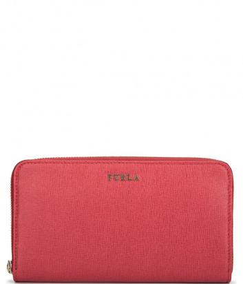 Кошелек на молнии Furla Babylon 851532 в сафьяновой коже красный