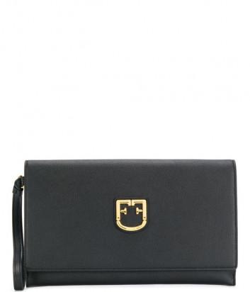 Клатч Furla Belvedere 1014264 в текстурной коже черный