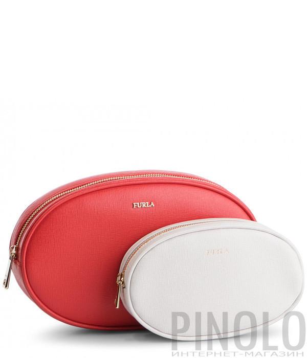 Комплект косметичек Furla Electra 1006692 (2шт) красная и белая