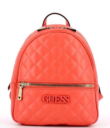 Стеганный рюкзак Guess 2320 с внешним карманом коралловый