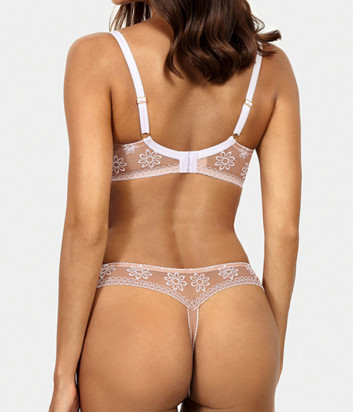 Комплект Ewa Bien Avero бюстгальтер формованный B312 и стринги C201 телесно-белый