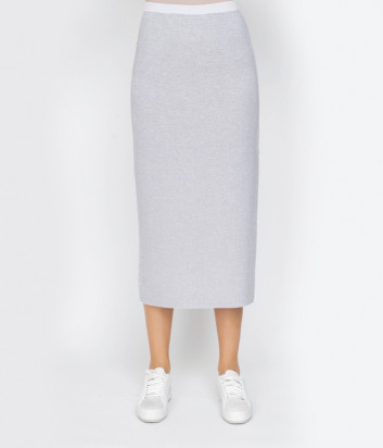 Длинная трикотажная юбка D.EXTERIOR 50307 серебристая