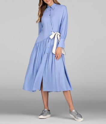 Платье-рубашка ERIKA CAVALLINI P0ST06 голубое