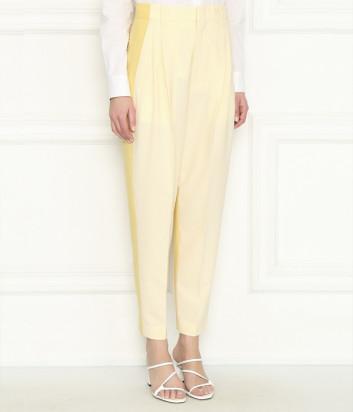 Укороченные брюки ERIKA CAVALLINI P0SP07 желтые