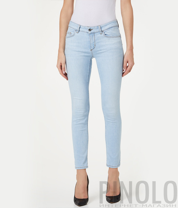 Укороченные джинсы LIU JO UA0006 голубые