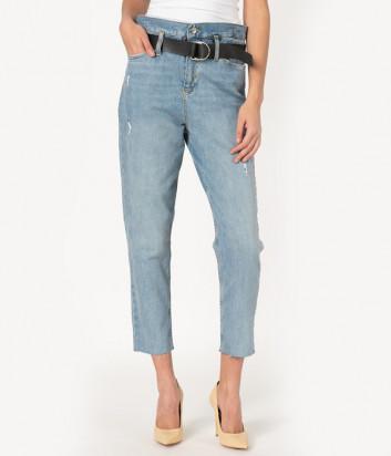 Голубые джинсы LIU JO UA0077 с завышенной талией