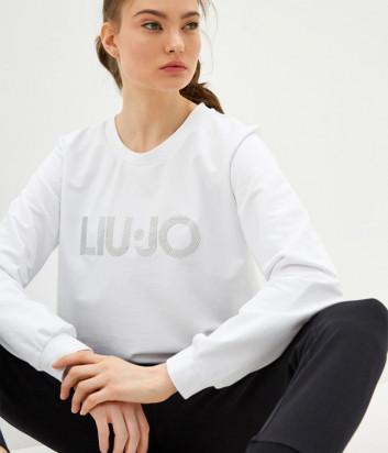 Свитшот LIU JO TA0209 белый с логотипом